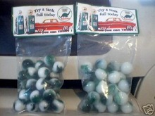 TWO BAGS OF SINCLAIR DINO MARBLES