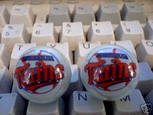 TWO MINNESOTA TWINS MARBLES