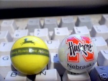 NEBRASKA   AND  JOHN DEERE   MARBLES