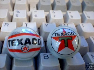 TEXACO GLASS LOGO MARBLES