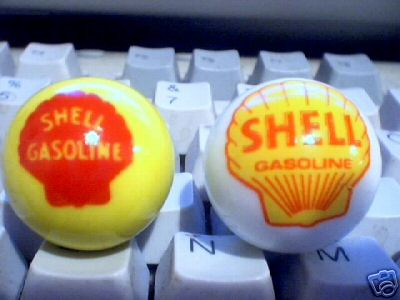 NEW SHELL GASOLINE LOGO MARBLES ADVERTISING MARBLE NR