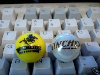 WINCHESTER GLASS LOGO MARBLES