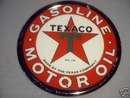 TEXACO T-STAR TIN METAL SIGN