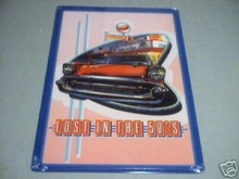 57 CHEVROLET METAL SIGN  LOST IN THE 50'S