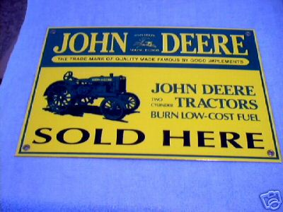 JOHN DEERE SOLD HERE