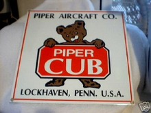 PIPER   AIRCRAFT   CO. SIGN (PORCELAIN)