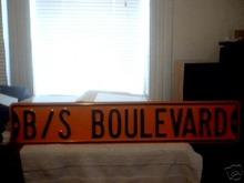 B/S   BOULEVARD  DRIVE  SIGN