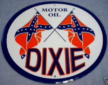 DIXIE  MOTOR  OIL METAL SIGN