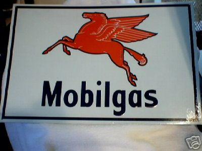 MOBILGAS TIN SIGN