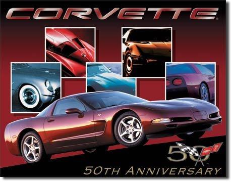 CORVETTE   50TH ANNIVERSARY  SIGN