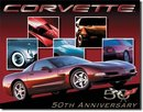 CORVETTE   50TH ANNIVERSARY  SIGN