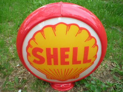 SHELL GAS PUMP GLOBE OIL STATION DECOR
