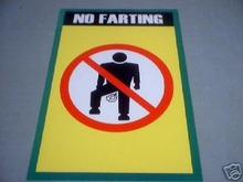 NO FARTING PRINT