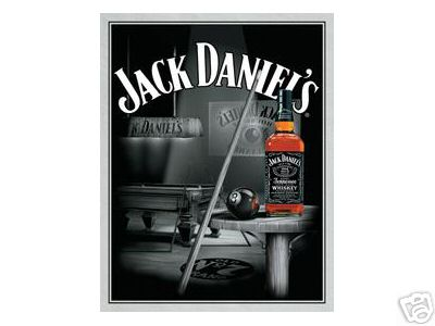 JACK DANIELS POOL ROOM METAL SIGN