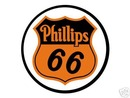 PHILLIPS 66 ROUND METAL SIGN P