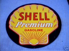 SHELL PREMIUM GASOLINE  SIGN