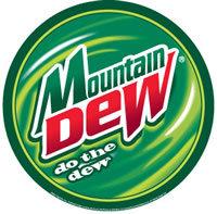 MOUNTAIN DEW ROUND TIN SIGN