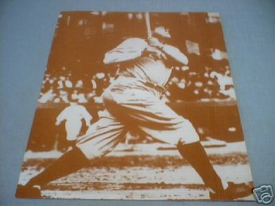 BABE RUTH SWINGING BAT PRINT PHOTO