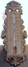 WEATHER THERMOMETER RUSTIC CAST  IRON