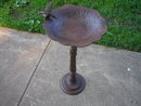 RUSTIC CAST IRON HUMMINGBIRD BIRDBATH  GARDEN DECOR