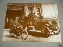 OLD FIRE ENGINE - MOTORCYCLE PRINT