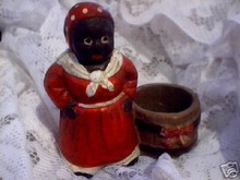CAST IRON AUNT JEMIMA TOOTHPICK HOLDER