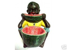 BOY WITH WATERMELON CAST IRON BLACK AMERICANA