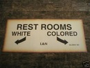 RESTROOMS - WHITE & COLORED PRINT