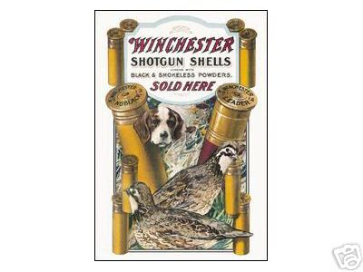WINCHESTER SHOTGUN SHELLS TIN SIGN