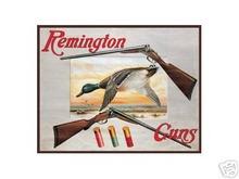 REMINGTON  GUNS TIN METAL SIGN