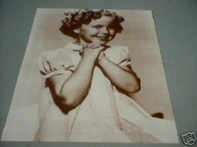 SHIRLEY TEMPLE - HANDS CLASPED - PRINT