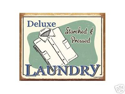 DELUXE LAUNDRY SIGN