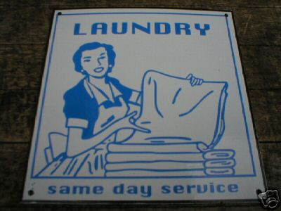 LAUNDRY ROOM SIGN COLLECTIBLE METAL SIGNS NR