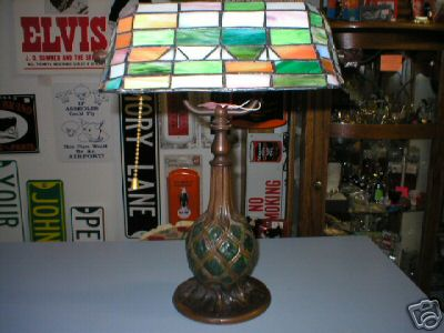 DESK LAMP TIFFANY STAINED GLASS SHADE