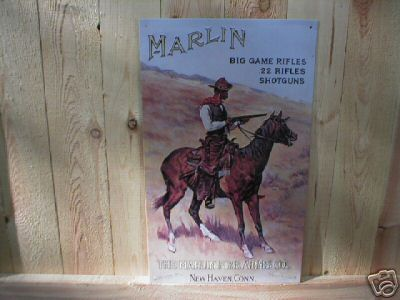 MARLIN - BIG GAME RIFLES SIGN