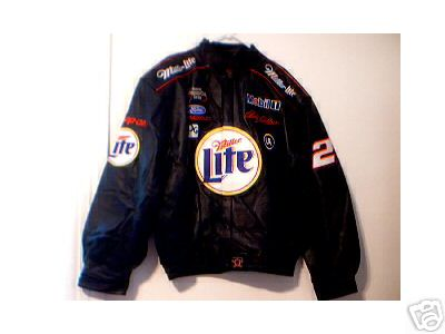 NEW R WALLACE NASCAR LEATHER JACKET COAT SIZE 2XL NWT