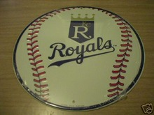 KANSAS CITY ROYALS METAL BASEBALL SIGN