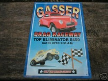 GASSER DRAG RACEWAY TIN SIGN COLLECTIBLE METAL SIGNS