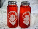 SHIRLEY TEMPLE RED SALT AND PEPPERS