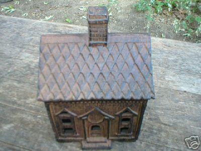CAST IRON HOUSE BANK