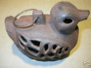 CAST IRON DUCK LANTERN GARDEN OR DECK ACCENT NR