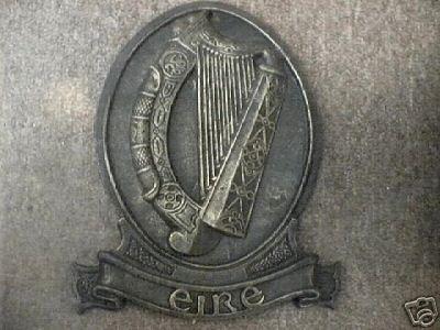 CELTIC HARP EIRE PLAQUE cast iron GAELIC IRELAND IRISH