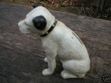 SMALL CAST IRON RCA DOG NIPPER BANK