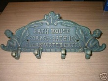 CAST IRON ANGEL BATH HOUSE WALL HOOK