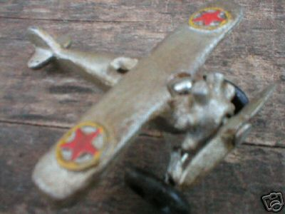 SMALL SILVER CAST IRON AIRPLANE
