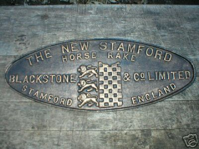 NEW STAMFORD HORSE RAKE SIGN BLACKSTONE CO LIMITED
