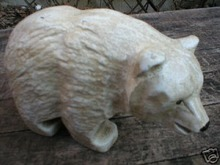 ANTIQUE WHITE POLAR BEAR CAST IRON COLLECTIBLE