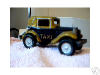 TAXI CAB YELLOW BLACK  CAR CAST IRON