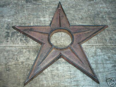 LARGE CAST IRON STAR  IOWA COLLECTORS ITEM NR