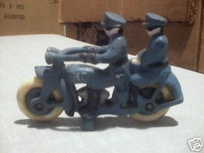 CAST IRON TANDEM MOTORCYCLE COLLECTIBLE CYCLES NR